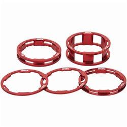 Box One stem spacer Kit X 10, 5, 3,1(2pcs)mm  Red