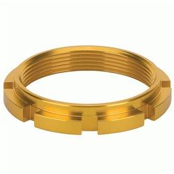 Box Edge 8 prong lock ring  Gold