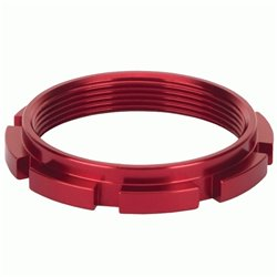 Box Edge 8 prong lock ring  Red