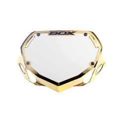 Box Phase 1 number plate Chrome Gold
